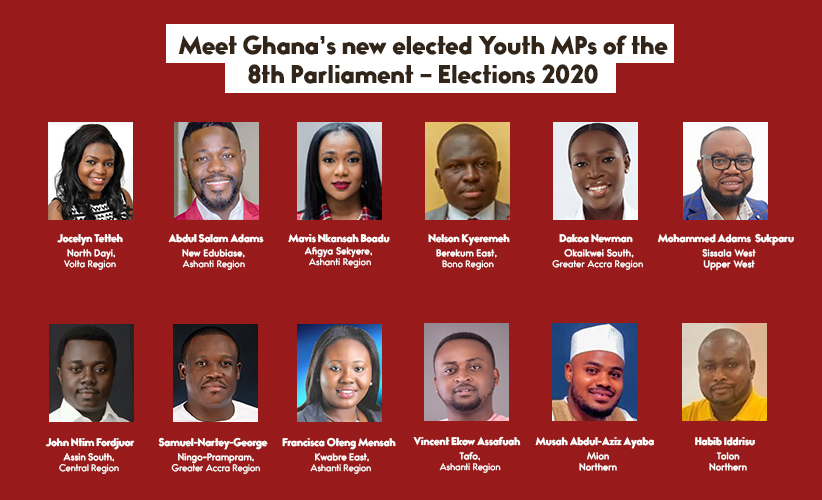 MEET GHANA'S YOUTH MPs-ELECT OF THE 8TH PARLIAMENT OF THE 4TH REPUBLIC